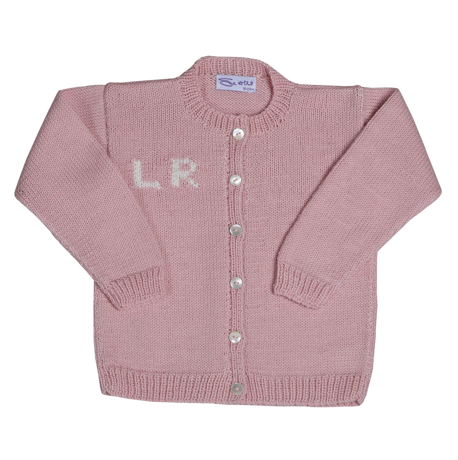 Sue Hill girls personalised cardigan