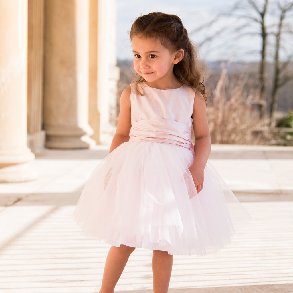 Sue Hill silk tulle tutu flower girl dress Lily