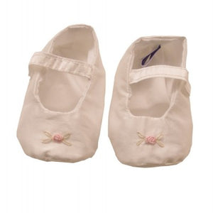 Sue Hill silk baby girl christening shoes Rosa