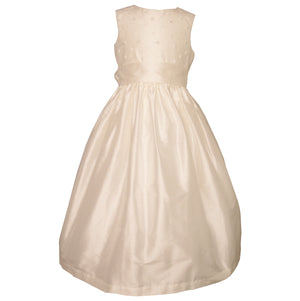 Sue Hill silk flower girl communion dress - Poppy