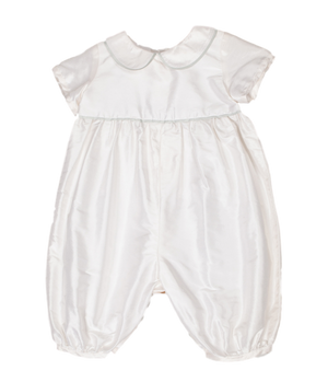 Classic Personalised Silk Christening Romper
