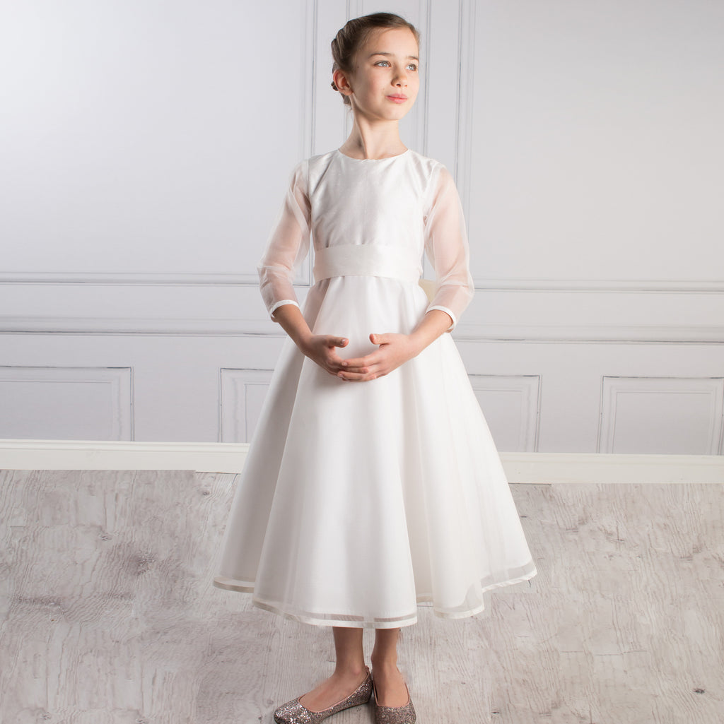 Sue Hill Sophia silk organza communion dress