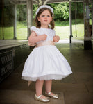 Sue Hill silk flower girl dress Sophie