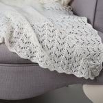 Sue Hill sunshine cashmere christening shawl baby blanket ivory