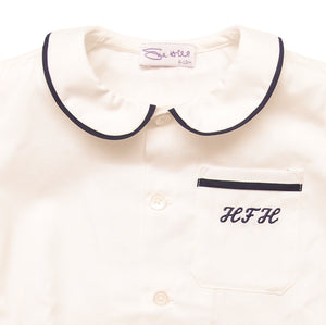 Sue Hill baby boy shirt monogram