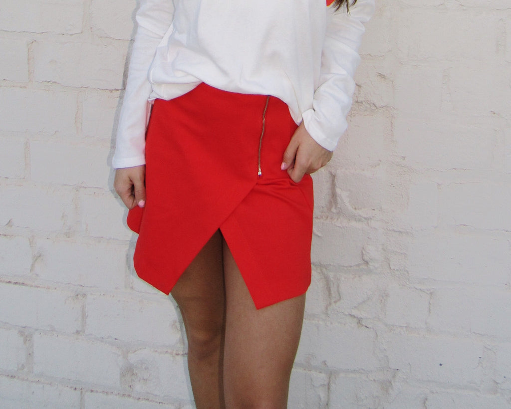 Watermelon Slit Skirt
