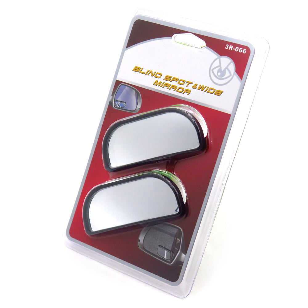 HTTMT- 2x Adjustable Stick On Rear View Auxiliary Blind Spot Mirror Wide Angle for Car
