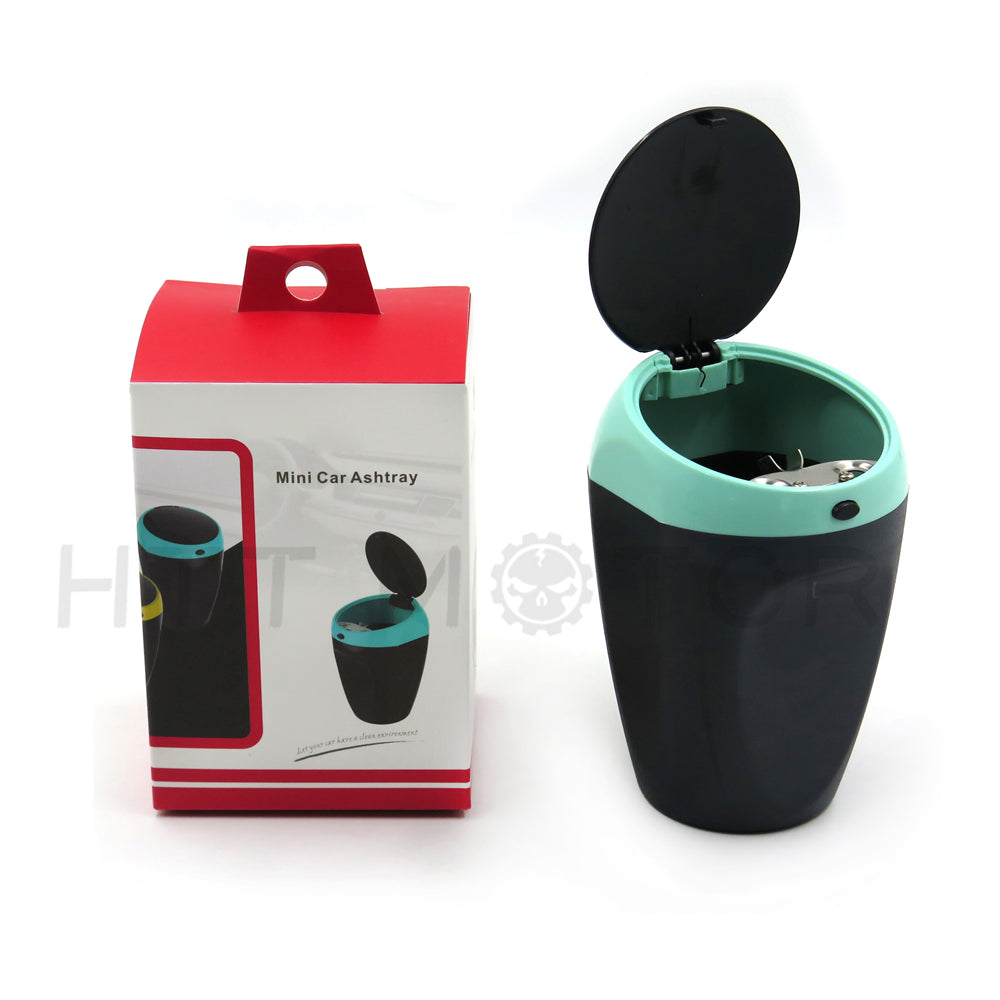 HTTMT- Mini Portable Ashtray Cigarette Cup Car Butt Bucket Smoke Ash Holder Blue
