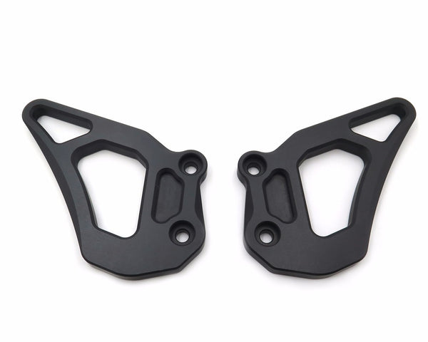 HTTMT- Motorcycle CNC Foot Pegs Heel Guard Plate Guard For BMW R1200GS LC 13-16/Adventure 14-16 Black