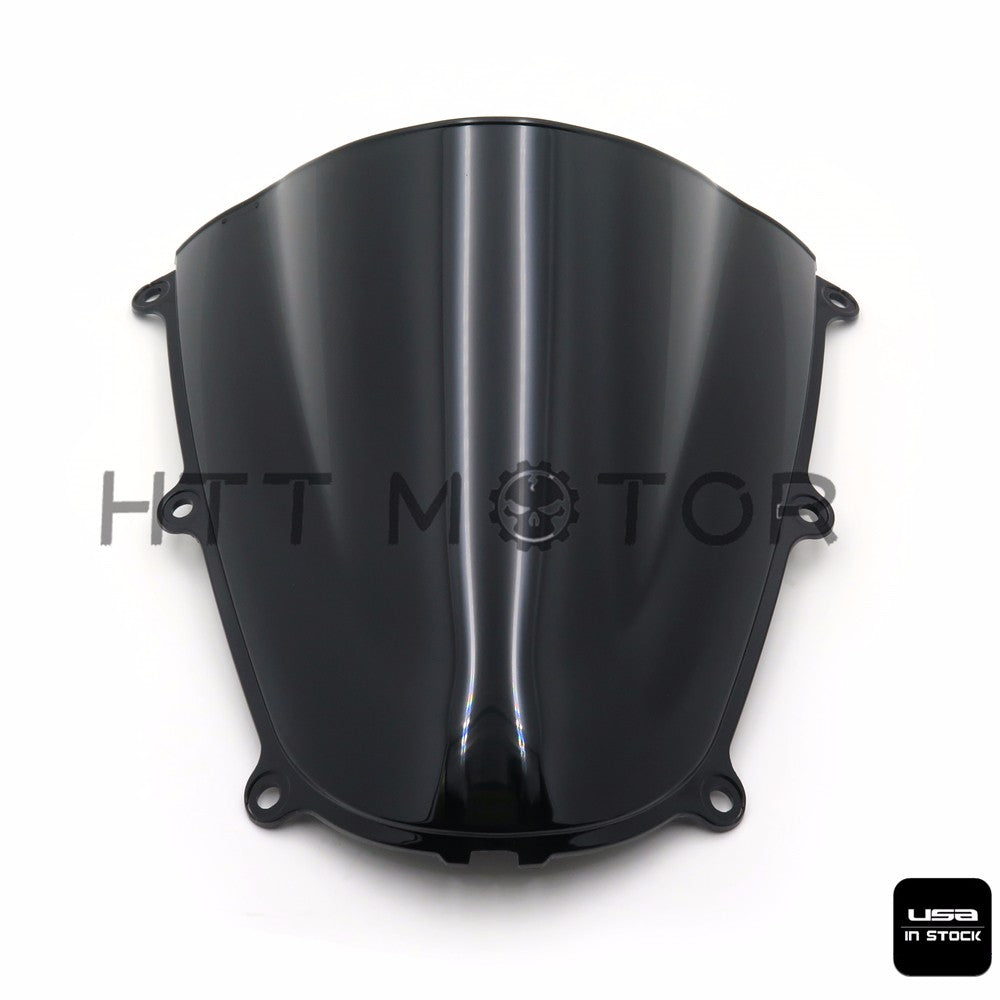 SMOKE BLACK DOUBLE BUBBLE WINDSCREEN WINDSHIELD FOR 2005-2006 HONDA CBR600RR