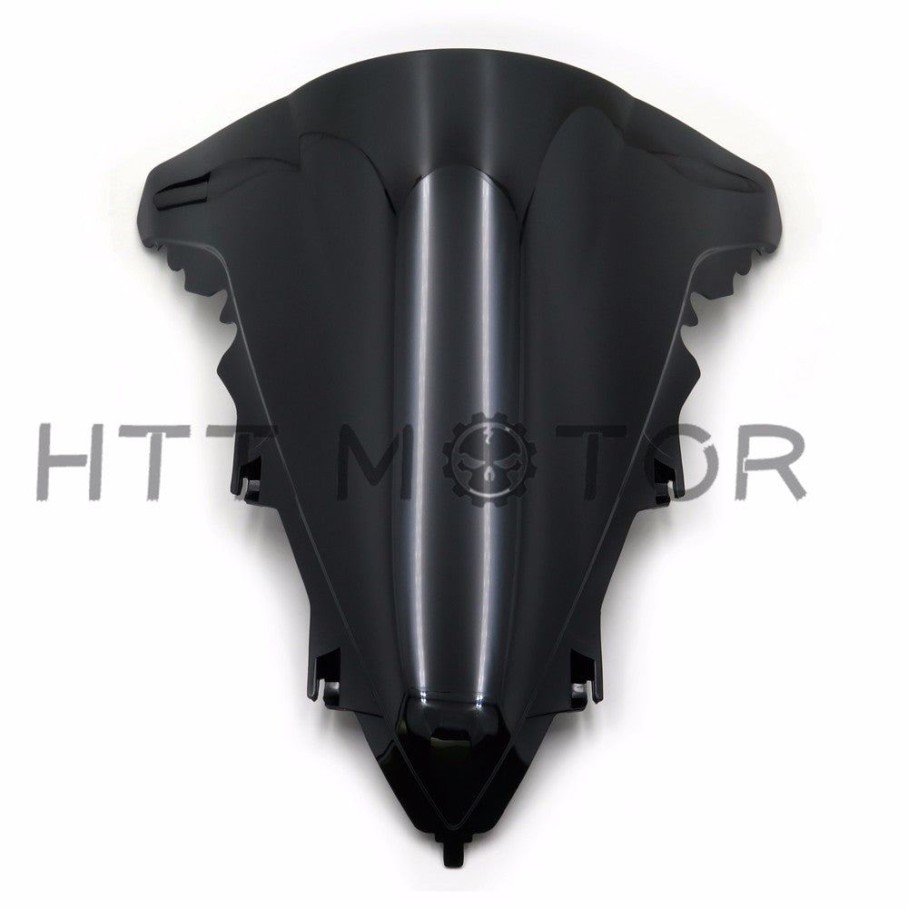 HTTMT- 2009-2014 YAMAHA YZF-R1 YZF R1 SMOKE BLACK DOUBLE BUBBLE WINDSCREEN WINDSHIELD