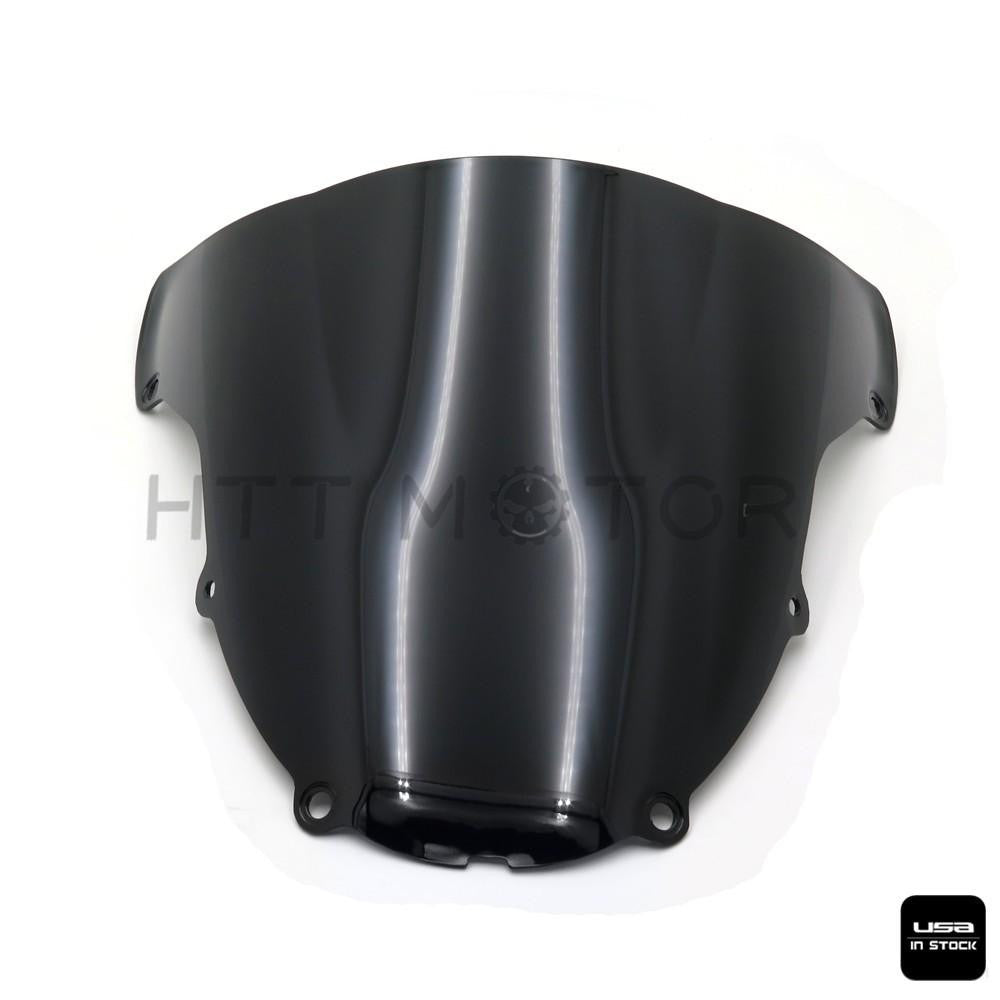 Double Bubble Windshield Windscreen For KAWASAKI ZX-6R/ZX636 2003-2004 Black