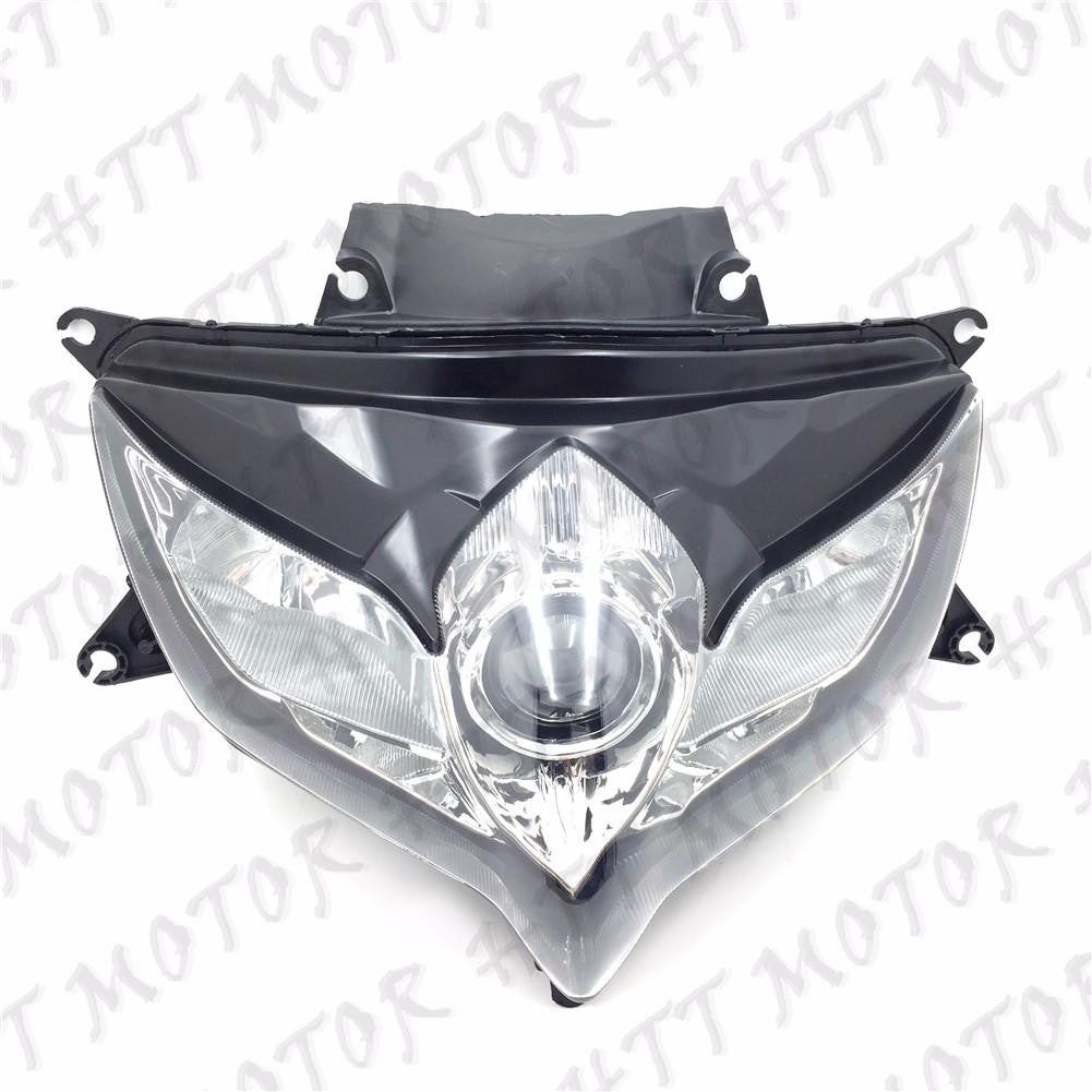 Black Headlight Head Light Lamp Assembly For SUZUKI GSXR 600 GSX-R 750 2008-2009