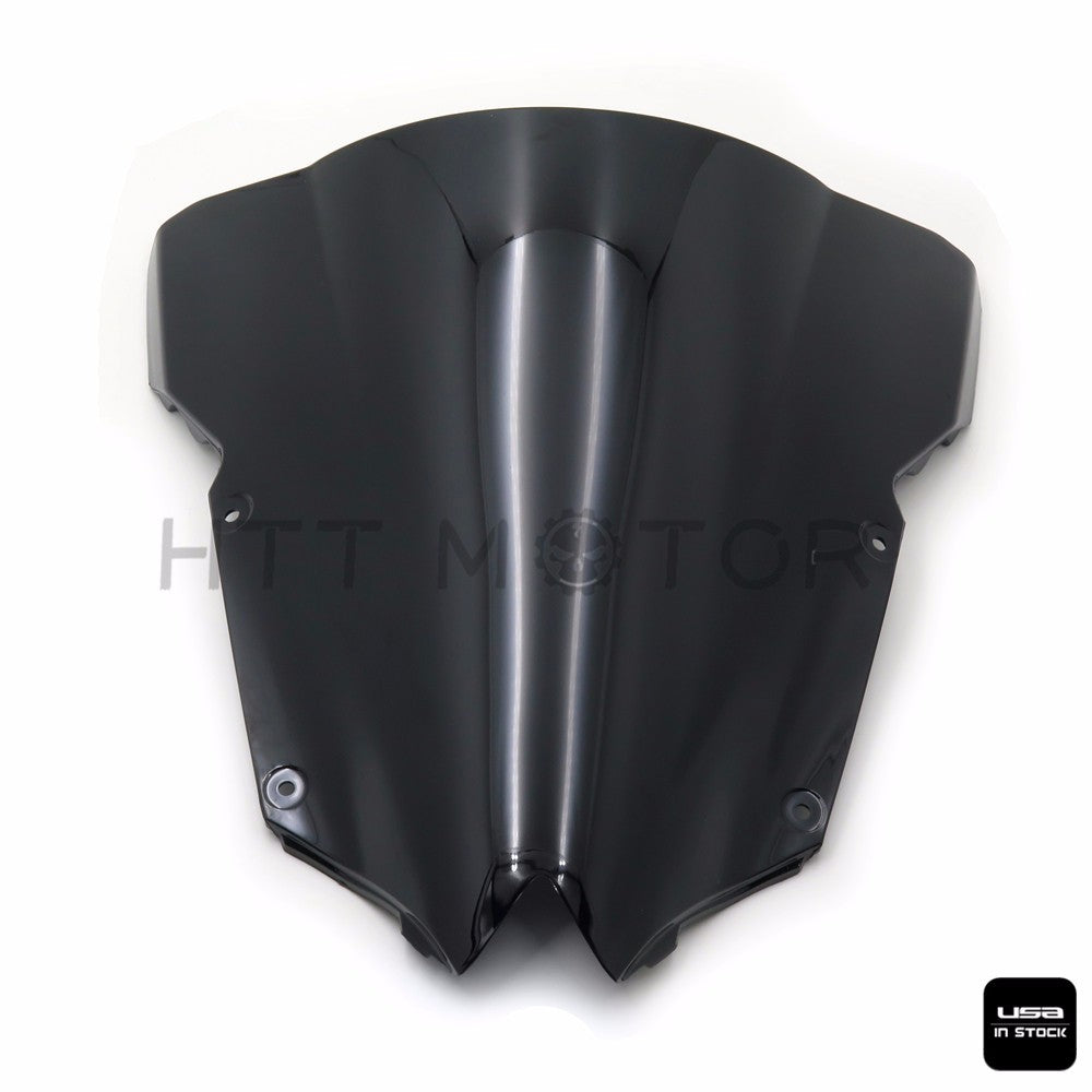 Windshield Windscreen Double Bubble For Yamaha YZF R6 600 2008-2015 Black