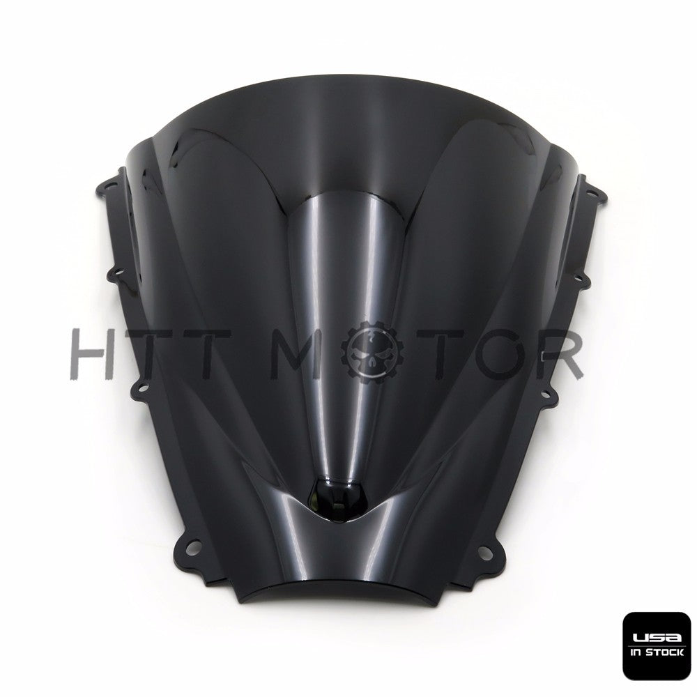 Windshield WindScreen Double Bubble For 2006 2007 2008 Triumph Daytona 675 Black