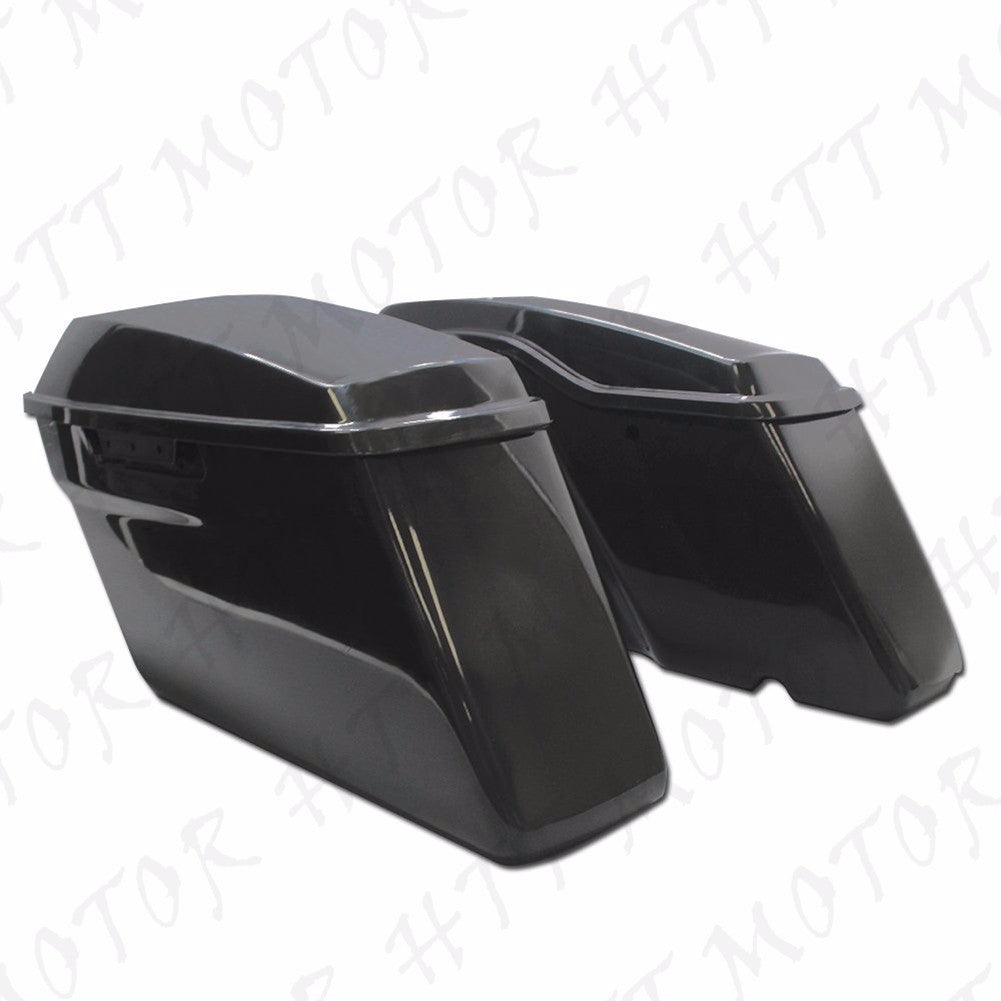 Unpainted Regular Hard Saddlebag w/ Lids For Harley Touring Models 2014-2017