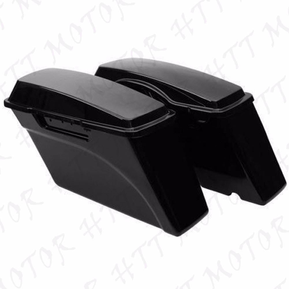 1Set Unpainted Hard Saddle bags Saddlebags For Harley Road King Glide 1994-2013