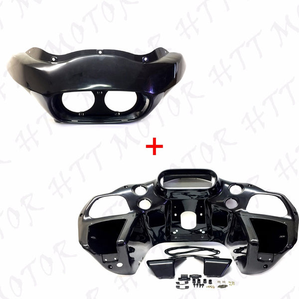 US Stock Unpainted Inner & Outer Headlight Fairing For Harley FLTR Road Glide