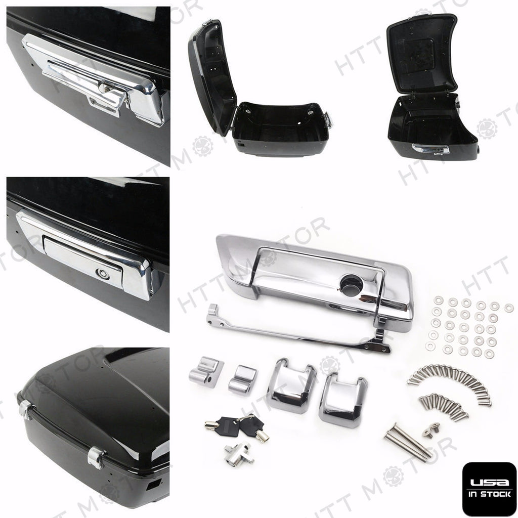 HTTMT- Tour Pak Pack Trunk Lid Latches For Harley Road King Street Glide Electra 14-17