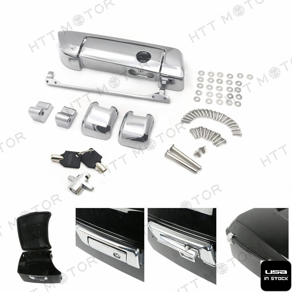 HTTMT- Tour Pak Pack Trunk Latches Key Fit Harley Davidson Touring Ultra-Classic 14-17