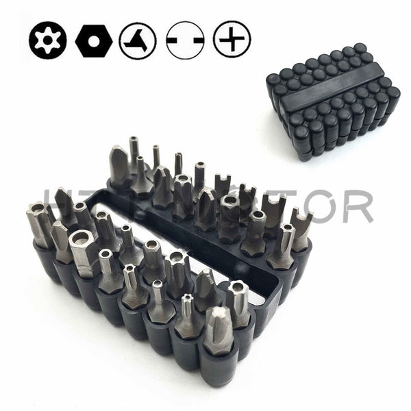 Tamper Proof 33Pc Security Bit Set Phillips Torx Hex Star Spanner Screwdriver