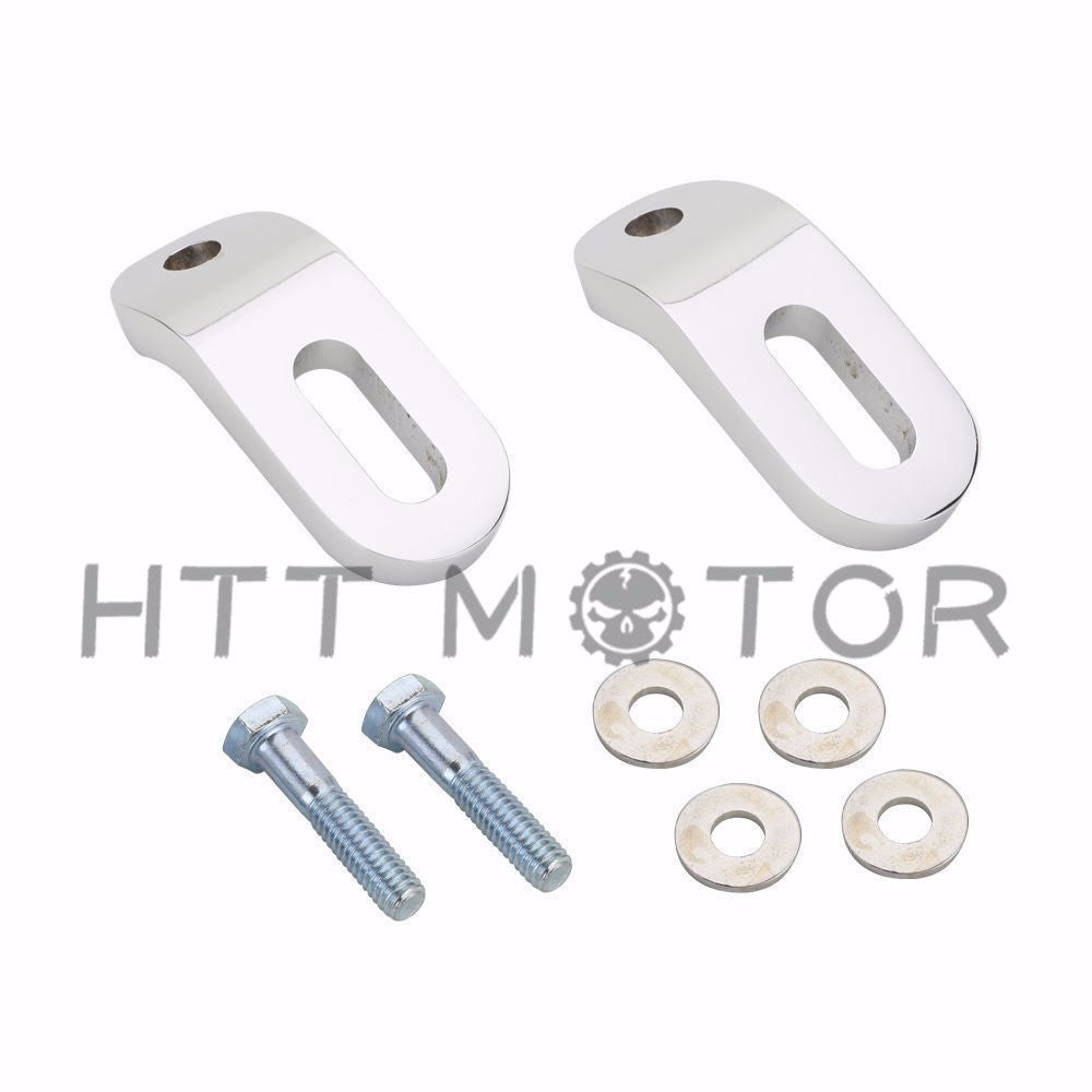 HTTMT- Pair Motorcycle Chrome Touchless Tie-Downs For Harley Touring Electra Glide FLH/T