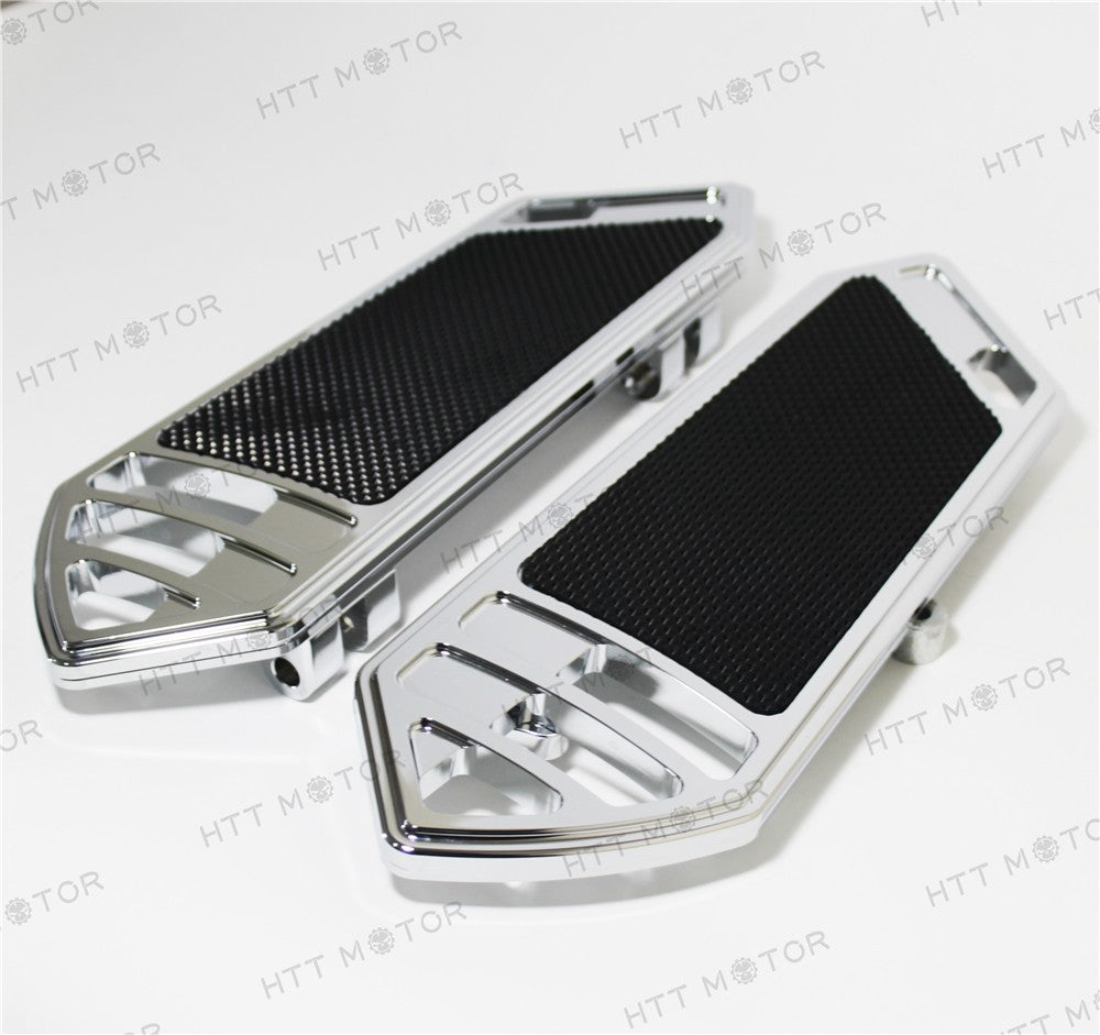 HTTMT- deeply cut Rider Front FootBoard Floorboard Fit Harley Touring Softail 84-15 Chrome