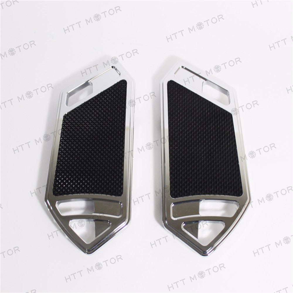HTTMT- Chrome deeply cut Passenger Foot Boards Floorboard For Harley Touring&Softai