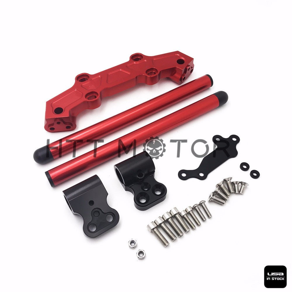 HTTMT- Clip-On Adapter Plate & Handlebars Set For Yamaha MT-09 FZ-09 2013-2016 Red