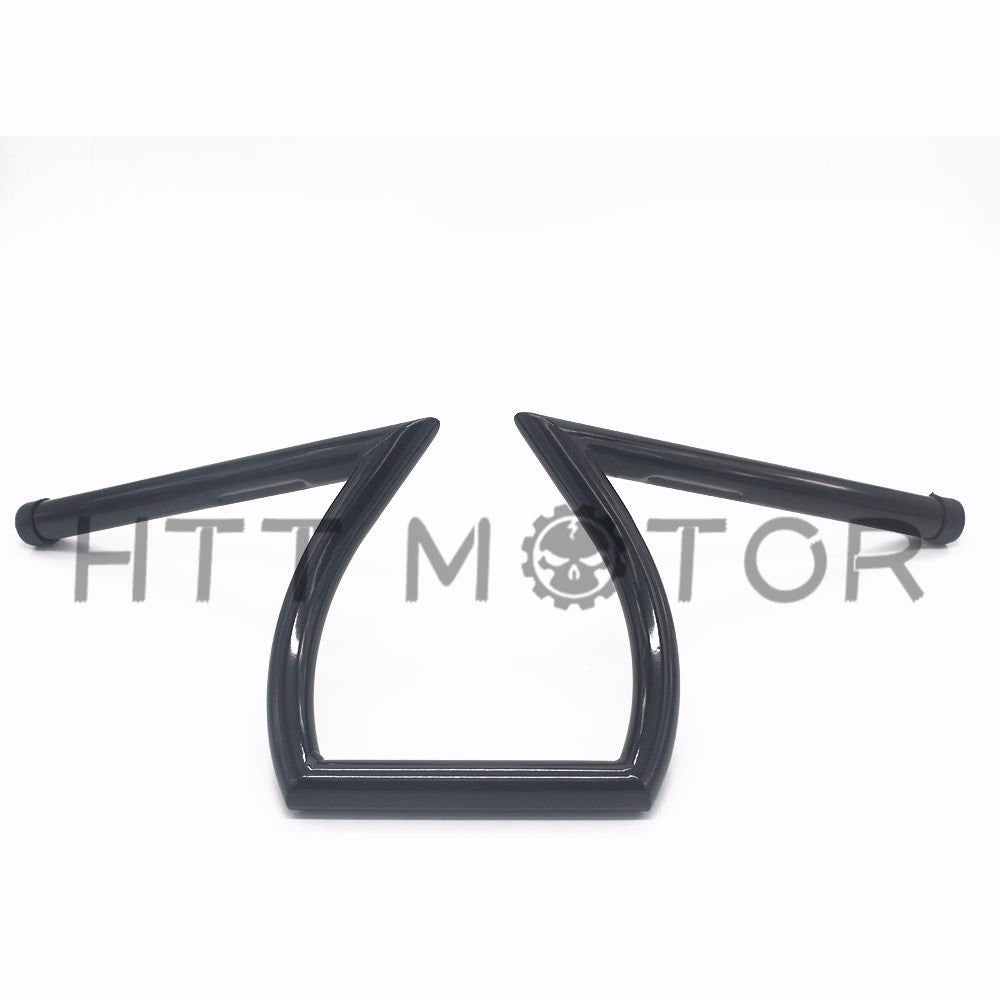 "HTTMT- Cruiser Z-Bar Handle Bars 1"" Gloss Black Fit Harley XL Sportster 1200 883 Custom"
