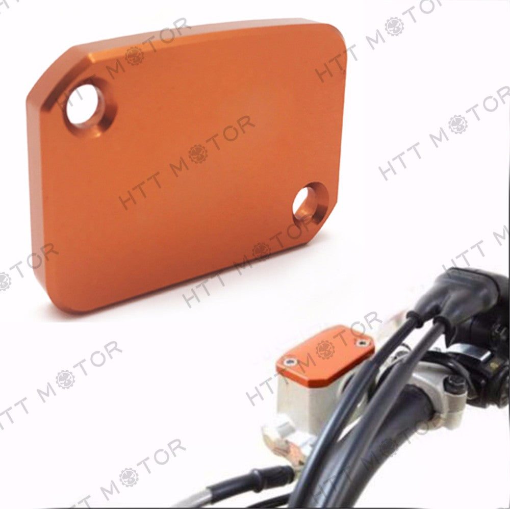 HTTMT- CNC Front Brake Master Cylinder Reservoir Cover For KTM 125 200 390 Duke Orange