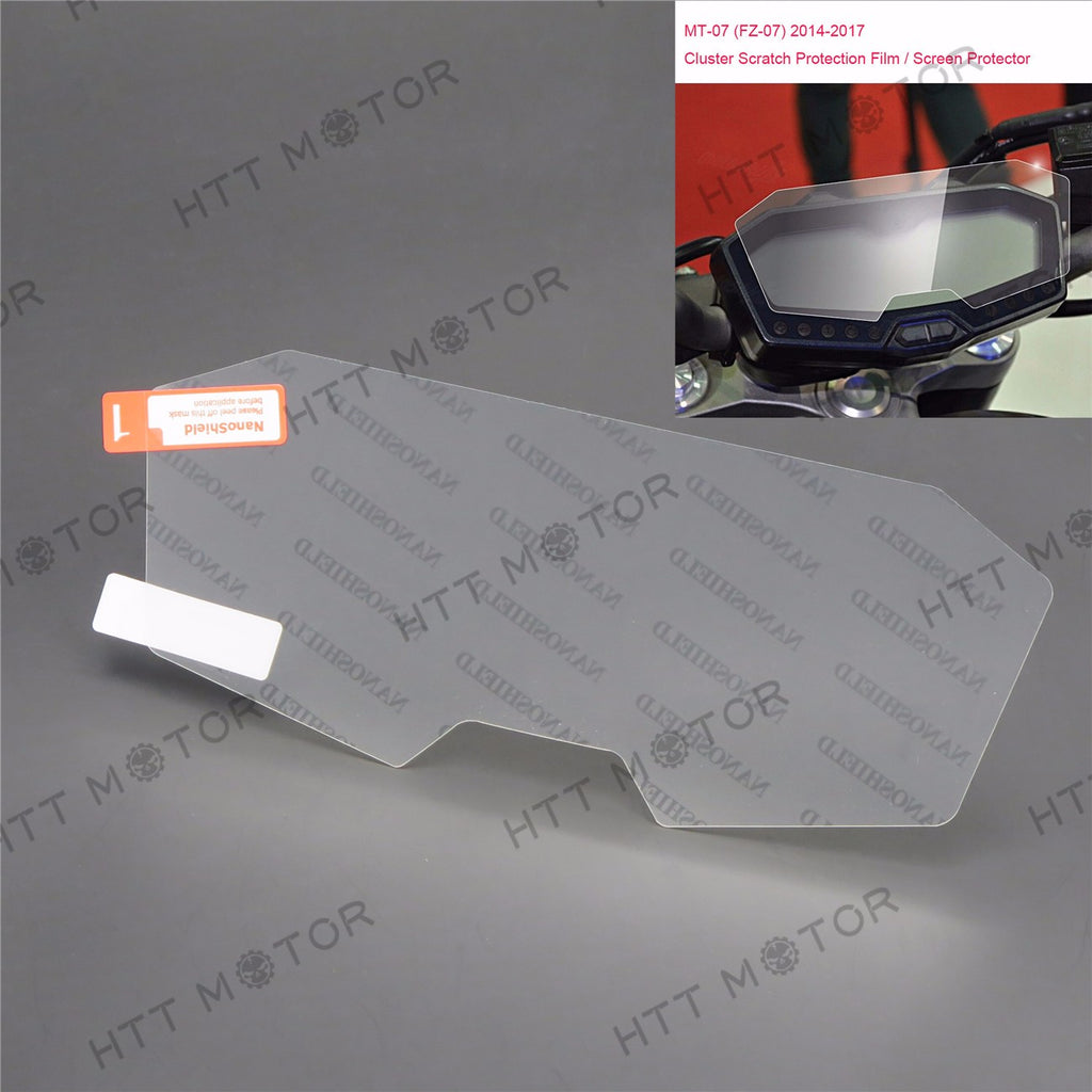 HTTMT- Cluster Scratch Protection Film / Screen Protector for Yamaha FZ07 / MT-07