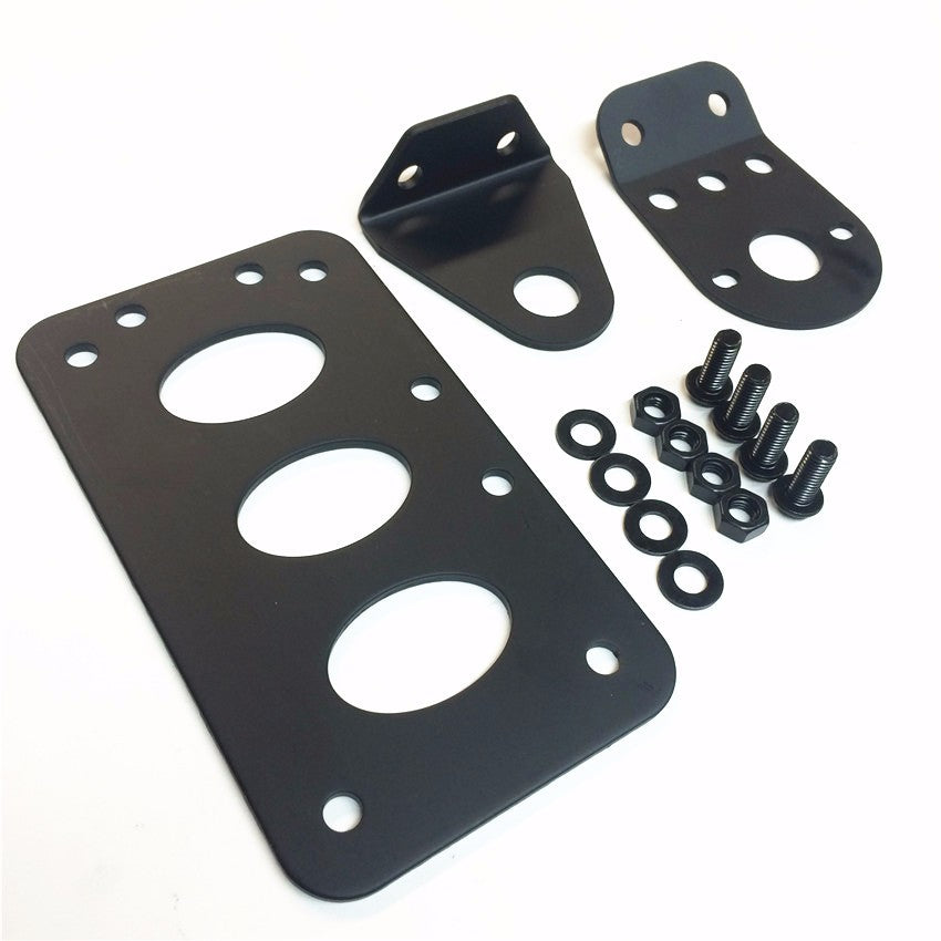 HTT Motorcycle Black Horizontal Vertical Custom Side Mount License Plate Bracket For Harley Bobber Chopper