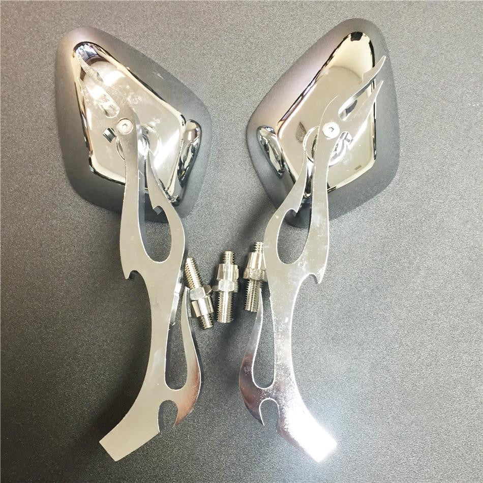 chromed flame shape Running Mirror for Kawasaki Ninja All year model