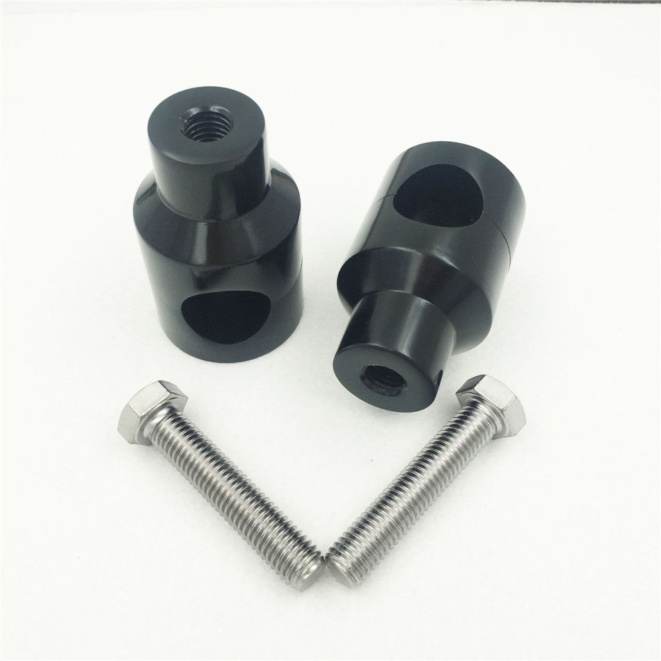 "HTT Motorcycle Black Shorty Round 7/8"" 22mm Handlebar Riser Universal See Fitments Details"