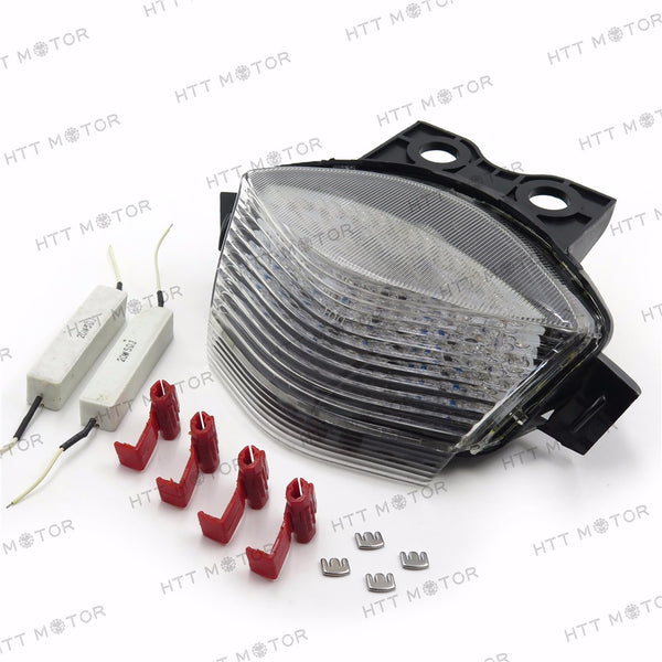 HTTMT- Tail Brake Light For 2006 2007 2008 Kawasaki Ninja 650R Ex650 Er-6F Clear
