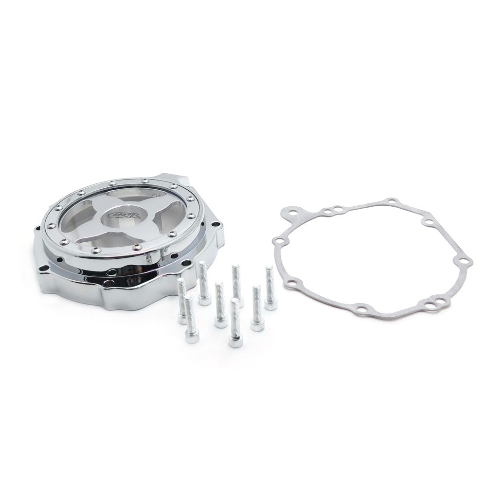 HTT- Engine Stator Cover See Through For Honda 04-07 CBR1000RR/ 04-14 CB 1000RR Chrome