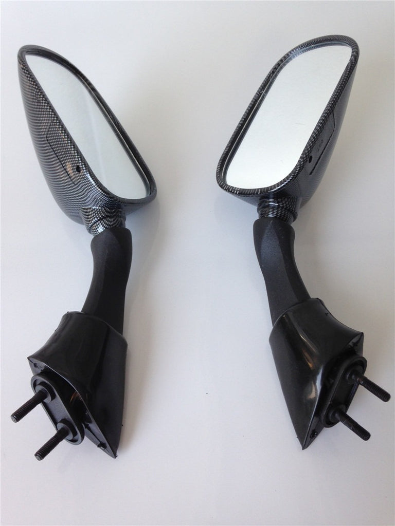 HTT Motorcycle Oem Aftermarket Mirrors Fit For Yamaha Fjr 1300 Fjr1300 2003 2004 2005 Carbon