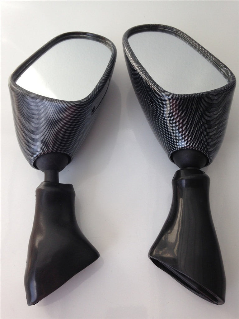 HTT Motorcycle Carbon Fiber Oem Aftermarket Side Racing Mirrors For 1998-2006 Suzuki GSX600F Katana/1998-2006 Suzuki GSX750F Katana