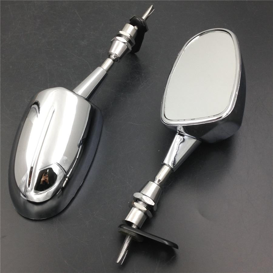 Chromed rear view mirrors fit for Honda CBR 600 kawasaki ninja 636 zx9 zx10r Suzuki Katana GSXR Yamaha