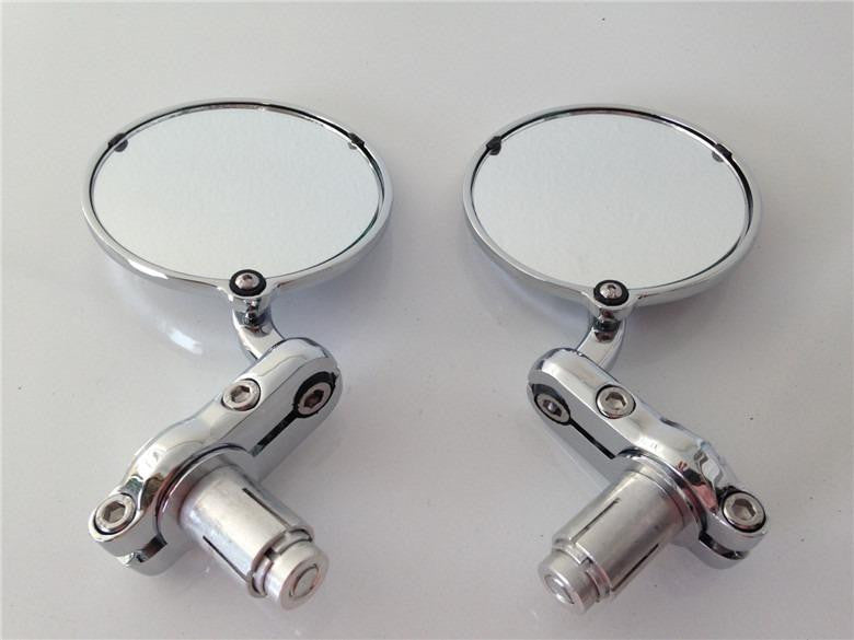 7/8 Inch Bar End Mirrors For Aprilia Vespa Kymco Piaagio Agusta Ktm Bmw Chrome