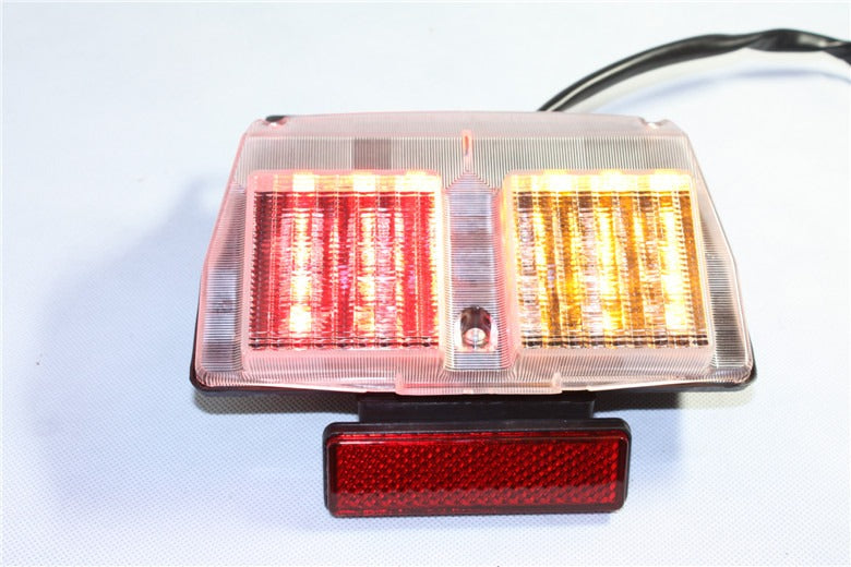 HTT Motorcycle Clear Led Tail Light Brake Light with Integrated Turn Signals Indicators For 1994-2003 Ducati 748 916 996 / 2002-2004 Ducati 998
