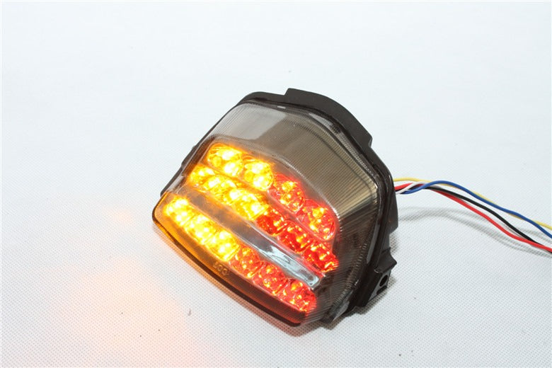 HTT Motorcycle Smoke Led Tail Light Brake Light with Integrated Turn Signals Indicators For 2008-2012 Honda CBR 1000RR / CBR1000RR / Fireblade