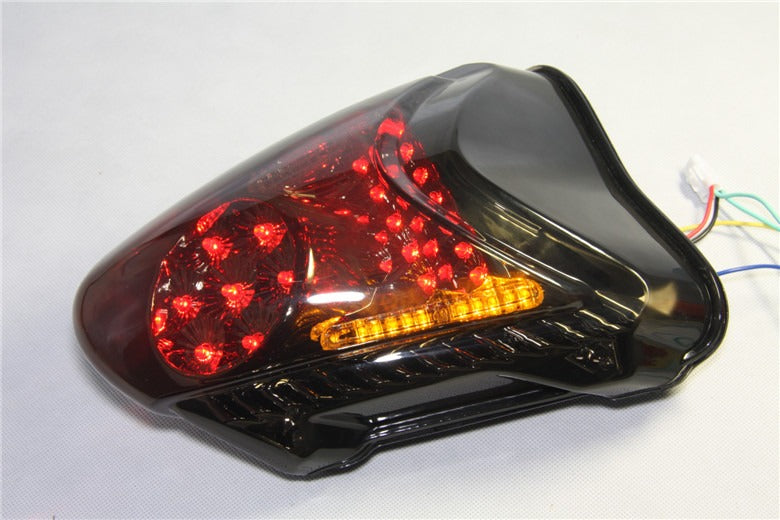 HTT Motorcycle Clear Led Tail Light Brake Light with Integrated Turn Signals Indicators For 2008-2012 Suzuki Hayabusa / GSX1300R