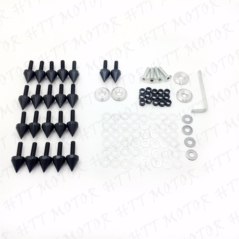 HTTMT For 1998-1999 Yamaha YZF R1 YZFR1 Black Spike Fairing Bolts