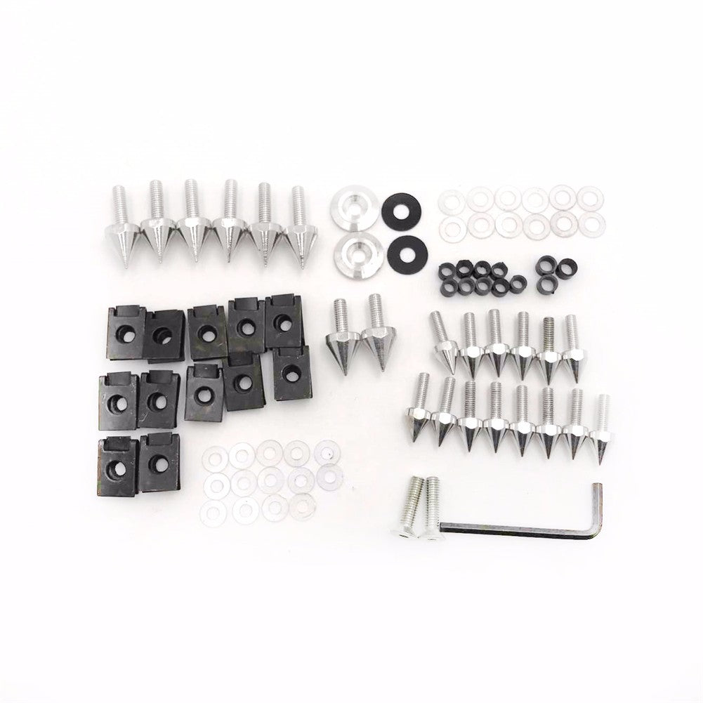 HTTMT Silver Spike Fairing Bolts Kit For 1998-2002 Kawasaki Ninja Zx6 Zx6R Zx9R