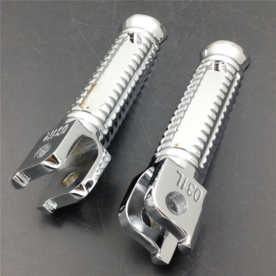 HTT Front Foot pegs for Honda CBR 600 F4 F4i VFR VTR 1000 RC51 CB 900 Hornet Chrome