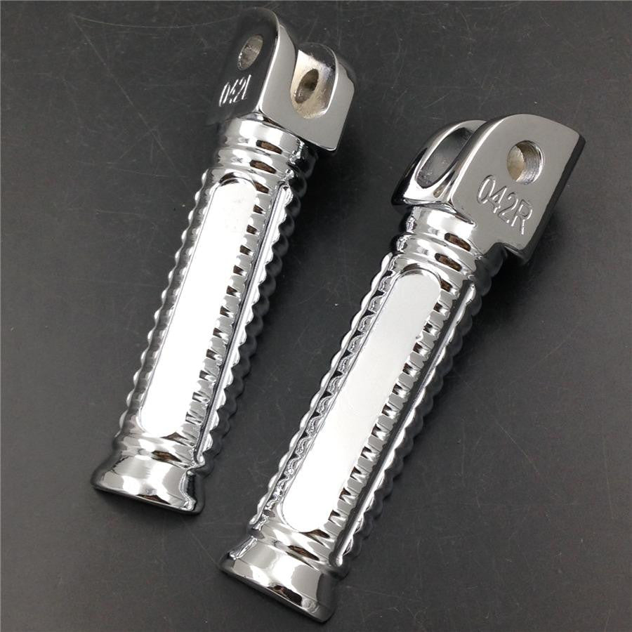 HTT Chromed OEM Style foot pegs for 2011 2012 2013 Kawasaki ZX-10R ZX10R ZX 10R