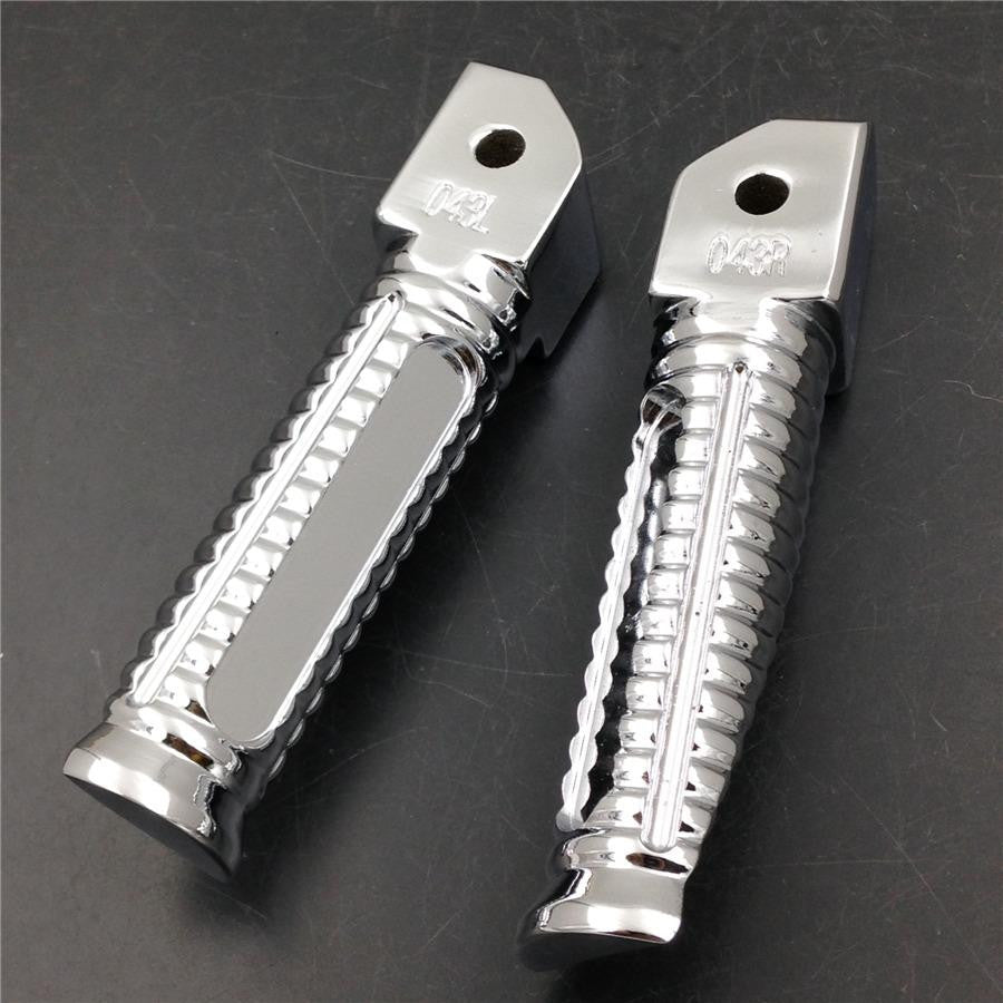 HTT Chromed OEM Style foot pegs for Kawasaki ZX-6R 636RR ZZR 750 1100 1200 10R