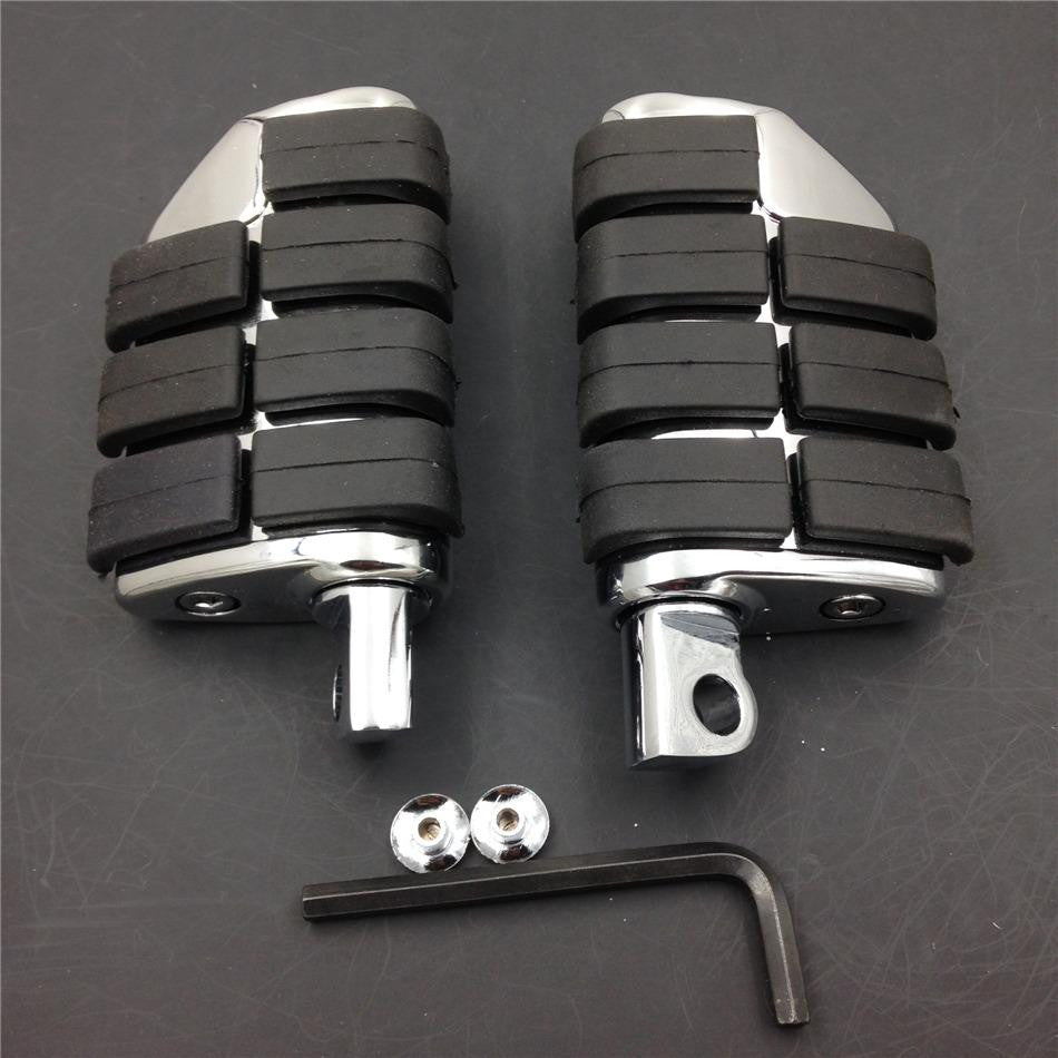 HTT 8028 ISO Dually Foot Rest pegs For Harley Touring Electra Glide Softail & Dyna